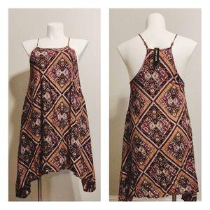 🏷️New Look | Paisley Print Asymmetrical Hem Dress